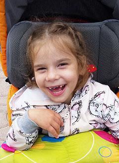 Виталина Терзи, 7 лет, детский церебральный паралич, симптоматическая эпилепсия, требуется лечение. 199430 руб.
