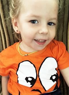 Софья Кондратьева, 3 года, детский церебральный паралич, требуется лечение. 199420 руб.